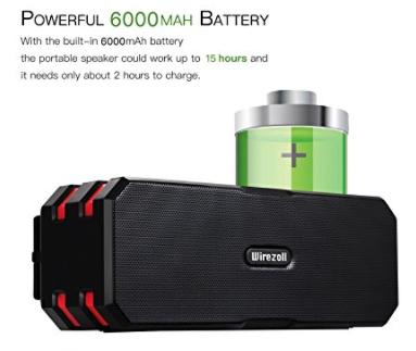 Weatherproof battery powered SPEAKER